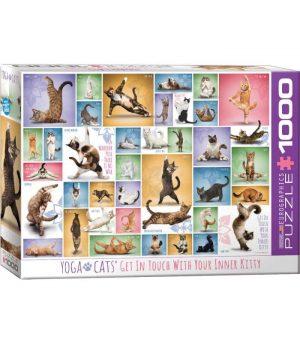 پازل 1000 تکه Yoga Cats