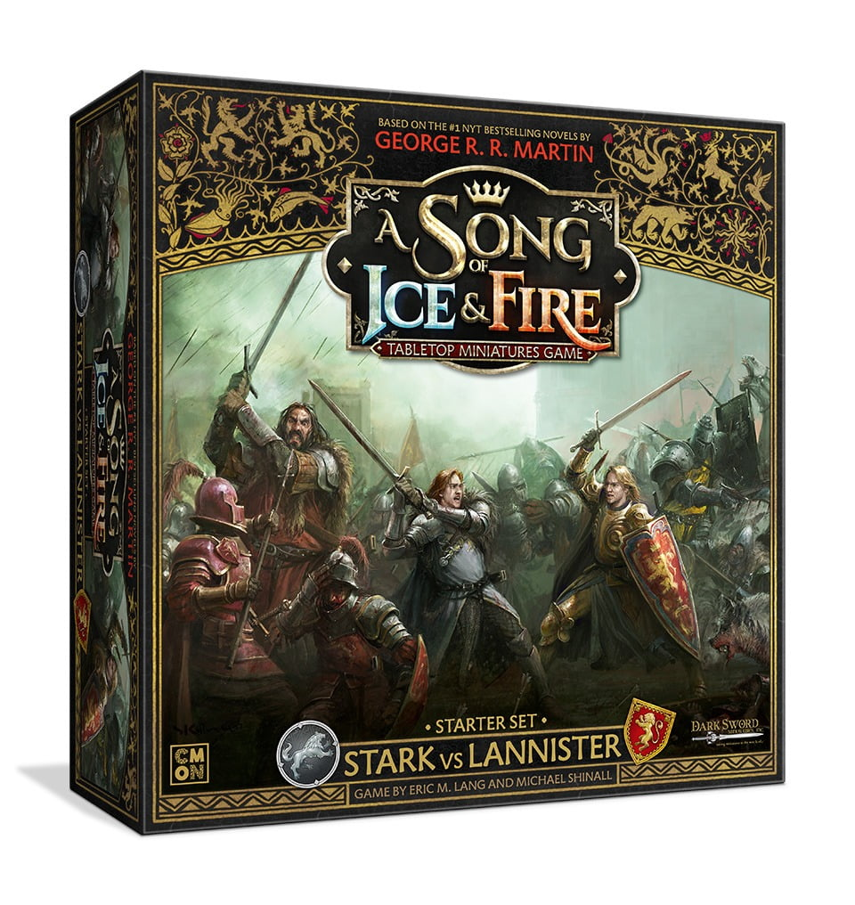 A Song of Ice & Fire tabletop miniatures game Stark vs Lannister