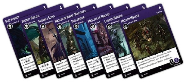 Tyrants of the Underdark Board Game card